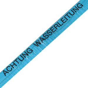 Ortungsband, Breite 40 mm, Länge 250 m, wahlweise Wasserleitung (blau) oder Gasleitung (gelb) (Aufdruck/Farbe: Wasserleitung, blau (Art.Nr.: 12970))