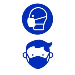 PREMARK Bodenmarkierung -Mundschutz- aus Thermoplastik, versch. Formen und VPE (Form/Maße/Menge:  <b>Kreis</b> / Ø 550 mm<br>VPE 5 Stk. (Art.Nr.: 39999))