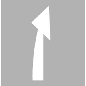 PREMARK Straßenmarkierung aus Thermoplastik -Abbiegepfeile L & R- / -Vorankündigungspfeile-, gem. RMS / BASt-geprüft (Modell/Verpackungseinheit: Abbiegepfeil links und rechts (Art.Nr.: 12221))