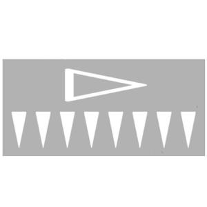 PREMARK Straßenmarkierung aus Thermoplastik -Dreiecke-, gem. RMS / BASt-geprüft (Modell/Maße (HxB)/Verpackungseinheit:  <b>Dreieck komplett ausgefüllt</b><br>600 x 500 mm/VE 25 Stk. (Art.Nr.: 12191))