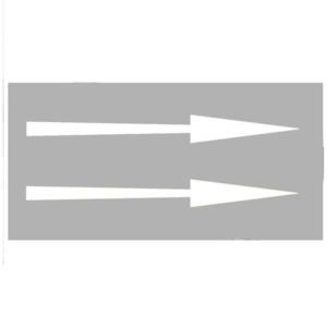 PREMARK Straßenmarkierung aus Thermoplastik -Pfeile geradeaus-, gem. RMS / BASt-geprüft (Maße (Länge)/Farbe/Verpackungseinheit: 1000 mm,weiß/VE 5 Stk. (Art.Nr.: 12193))