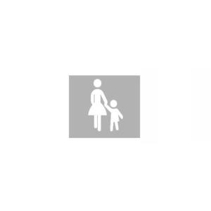 PREMARK Straßenmarkierung aus Thermoplastik -Sonderzeichen Frau mit Kind-, VPE 5 Stk. (Maße (HxB)/Menge: 1000 x 665 mm / VPE 5 Stk. (Art.Nr.: 12005))