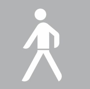 PREMARK Straßenmarkierung aus Thermoplastik -Sonderzeichen Fußgänger / Mann- (Maße (HxB)/Verpackungseinheit: 1500 x 826 mm/ <b>VE 2 Stk.</b> (Art.Nr.: 19921))