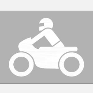 PREMARK Straßenmarkierung aus Thermoplastik -Sonderzeichen Motorrad- (Maße (HxB): 800 x 1200 mm (Art.Nr.: 12013))