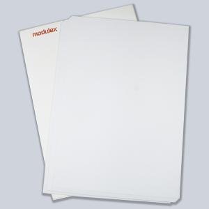 Papiereinleger für -MessengerX- und -PacificX-, weiß, VPE 50 Stk. (Modell/Menge:  <b>61 x 157 mm</b> / VPE 50 Stk. (Art.Nr.: mx46351300))