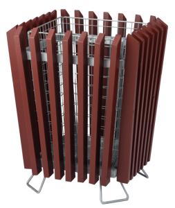 Papierkorb -M6- 50 Liter mit Holzverkleidung und Einsatzkorb (Ausführung: Papierkorb -M6- 50 Liter mit Holzverkleidung und Einsatzkorb (Art.Nr.: 19341))
