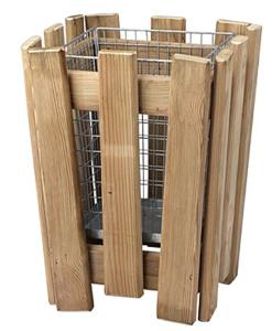 Papierkorb -M8- 30 Liter mit Holzverkleidung und Einsatzkorb (Ausführung: Papierkorb -M8- 30 Liter mit Holzverkleidung und Einsatzkorb (Art.Nr.: 19343))