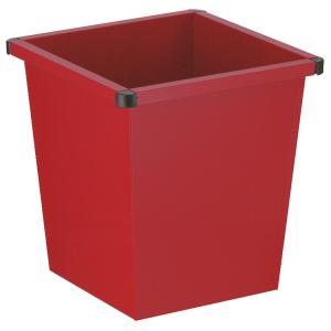 Papierkorb -P-Bins 20- 27 Liter aus Stahl, vollwandig oder gelocht, feuerfest (Modell/Farbe: Vollwandig/ <b>rot</b> (Art.Nr.: 17579))