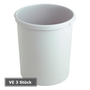 Papierkorb -P-Bins 26-, VE 3 Stück, 30 Liter aus Kunststoff (Farbe/Verpackungseinheit:  <b>schwarz</b>/VE 3 Stk. (Art.Nr.: 17506))