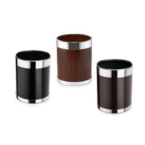 Papierkorb -WSA16-, 10 Liter aus Stahl, abnehmbarer Edelstahlring zur Müllbeutelfixierung (Farbe: schwarz  (Art.Nr.: 37256))