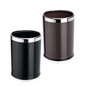 Papierkorb -WSA17-, 12 Liter aus Stahl, herausnehmbarer Einsatz (Farbe: schwarz (Art.Nr.: 37259))