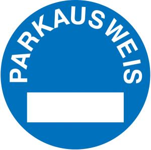 Parkausweis-Vignette, rund, Ø 65 mm (Ausführung: Parkausweis-Vignette, rund, Ø 65 mm (Art.Nr.: 21.3003))