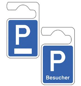 Parkausweisanhänger, Symbol P, zur Selbstbeschriftung oder für Besucher (Ausführung: weißes Feld zur Selbstbeschriftung (Art.Nr.: 90.9667))