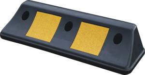 Parkhilfe / Radstop -Ridge- aus Kunststoff, Länge 500 mm, Höhe 100 mm, schwarz / gelb (Ausführung: Parkhilfe/Radstop -Ridge- aus Kunststoff, Länge 500 mm, Höhe 100 mm, schwarz/gelb (Art.Nr.: 32968))