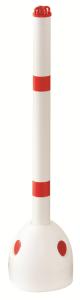 Parkpilz -Hero- aus Kunststoff, wahlweise mit Kettenkopf- oder Spitzkopf-Pfosten (Modell: Parkpilz, unbefüllt / ohne Pfosten (Art.Nr.: 13567))