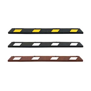 Parkplatzabgrenzung / Anfahrschwelle -ParkAID-, Länge 1800 mm, inkl. Befestigungsmaterial (Farbe: schwarz-weiß (Art.Nr.: 40172))