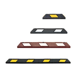 Parkplatzabgrenzung / Anfahrschwelle -ParkAID-, versch. Längen und Farben, inkl. Befestigungsmat. (Länge/Farbe: 550 mm / schwarz-gelb (Art.Nr.: 40549))