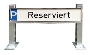 Parkplatzbeschilderung -Cuxhaven- aus Stahl, Breite ca. 520 mm, Höhe über Flur 350 mm (Befestigung/Gesamtlänge:  <b>zum Einbetonieren</b>/500mm (Art.Nr.: 4045))