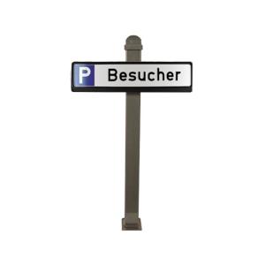 Parkplatzbeschilderung PSIGN -Lübeck-, Stahl-Stilpoller 70x70 mm, Höhe über Flur ca. 950 mm