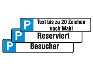 Parkplatzschild, Größe 430 x 80 mm (Ausführungen: Kunden (Art.Nr.: 11.5537))