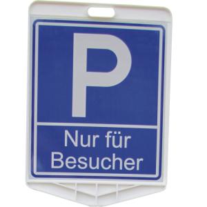 Parkplatzschild -Nur für Besucher- aus Kunststoff, aufschraubbar, 350 x 410 mm (Ausführung: Parkplatzschild -Nur für Besucher- aus Kunststoff, aufschraubbar, 350 x 410 mm (Art.Nr.: 20392))