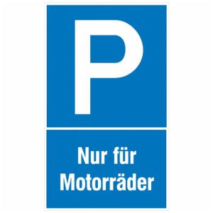 Parkplatzschild, Nur für Motorräder (Ausführung: Parkplatzschild, Nur für Motorräder (Art.Nr.: 11.5190))