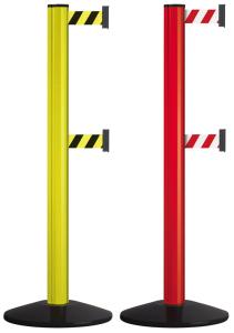 Personenleitsystem -Beltrac Extend Safety Double- aus Aluminium, Gurtlänge 3,7 m, rot oder gelb