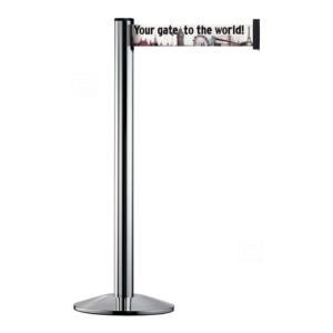 Personenleitsystem -Beltrac Extend X- aus Aluminium, Gurthöhe 100 mm, Gurtlänge 3 m, mobil, verschiedene Farben