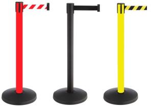 Personenleitsystem -P-Line Allround- aus Metall, Gurtlänge 3 m, versch. Farben