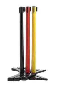 Personenleitsystem -P-Line Compact- aus Kunststoff, mit Spreizfuß, Gurtlänge 2,3m, versch. Farben