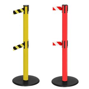 Personenleitsystem -P-Line Duo Safety-, mit 2 Gurtkassetten (optional), Gurtlänge 4m, gelb o. rot