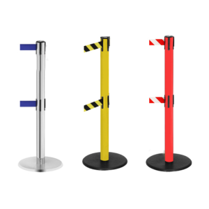 Personenleitsystem -P-Line Duo- aus Metall, mit 2 Gurtkassetten, Gurtlänge 2 x 2,3 m