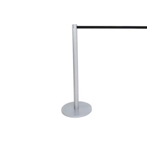 Personenleitsystem -Stiletto light- aus Aluminium, Gurtlänge 2,1 m, versch. Gurtfarben (Gurtfarbe: schwarz (Art.Nr.: 39961))