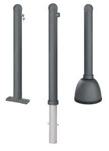 Pfosten -Harmonie- Ø 80 mm, aus Aluminiumguss, herausnehmbar, feststehend oder mobil