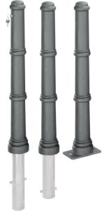 Pfosten -Klassik- Ø 85 mm, aus Aluminiumguss mit Stahlrohreinsatz, ortsfest oder heraushebbar