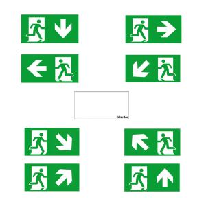 Piktogramme für Rettungszeichenwürfel -CUBE-Lux- LED (Piktogramm: Notausgang (Art.Nr.: br5711))