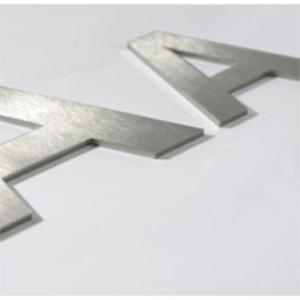 Plastische Buchstaben -Unitex P- aus Edelstahl (Höhe bis/Schriftform/Befestigung:  <b>50 mm</b>/Blockschrift/ohne Montagebolzen (Art.Nr.: 20128))