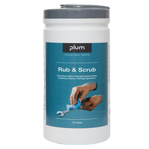 PlumWipes -Rub & Scrub- Reinigungstücher für Oberflächen, Maschinen und Werkzeuge, 75er-Box (Ausführung: PlumWipes -Rub & Scrub- Reinigungstücher für Oberflächen, Maschinen und Werkzeuge, 75er-Box (Art.Nr.: 39941