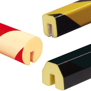 Profilschutz -Protect- Knuffi® aus PU, Länge 1000 mm, verschiedene Profile (Modell/Farbe/Montage:  <b>Kreis 40/40/8mm</b>, weiß<br>zum Aufstecken (Art.Nr.: dc10311))