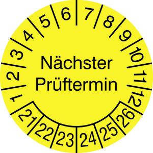 Prüfplaketten Jumbo ohne Jahresfarbe (6 Jahre), Nächster Prüftermin, 2021 / 2026 - 2024 / 2029 (Zeitraum: 2021-2026 (Art.Nr.: 21.3733-21))