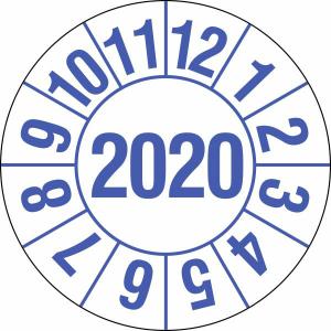 Prüfplaketten für Labore und Krankenhäuser (1 Jahr), 2020-2023, Bogen