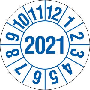 Prüfplaketten für Labore und Krankenhäuser (1 Jahr), 2021-2024, Bogen