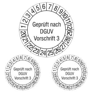 Prüfplaketten ohne Jahresfarbe (10 Jahre), 2020 / 2029 - 2022 / 2031, nach DGUV Vorschrift 3, Rolle