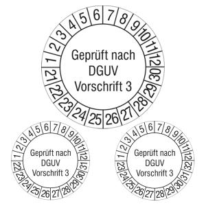 Prüfplaketten ohne Jahresfarbe (10 Jahre), 2021 / 2030 - 2023 / 2032, nach DGUV Vorschrift 3, Rolle (Jahre: 2021-2030 (Art.Nr.: 31.c7038-21))