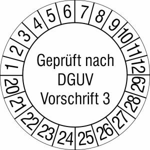 Prüfplaketten ohne Jahresfarbe (10 Jahre), nach DGUV Vorschrift 3, 2020 / 2029 - 2023 / 2032, Rolle (Zeitraum: 2020-2029 (Art.Nr.: 31.c2140-20))