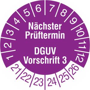 Prüfplaketten ohne Jahresfarbe (6 Jahre), 2021 / 2026 - 2023 / 2028, Nächster Prüftermin ..., Rolle (Jahre: 2021-2026 (Art.Nr.: 31.c7045-21))