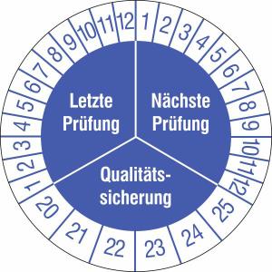 Prüfplaketten ohne Jahresfarbe (6 Jahre), Letzte / Nächste Prüfung..., 2020 / 2025 - 2023 / 2028, Bogen (Zeitraum: 2020-2025 (Art.Nr.: 30.3668-20))