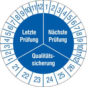 Prüfplaketten ohne Jahresfarbe (6 Jahre), Letzte / Nächste Prüfung..., 2021 / 2026 - 2024 / 2029, Bogen (Zeitraum: 2021-2026 (Art.Nr.: 30.3668-21))