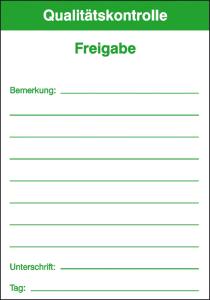 Qualitätskontrolletiketten, VPE 50 Stk. (Modell/Farbe/Menge:  <b>Freigabe</b> / grün / VPE 50 Stk. (Art.Nr.: 21.1016))