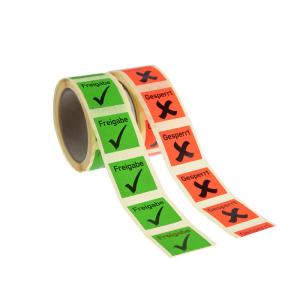 Qualitätssicherungs-Etiketten auf Rolle, 500 Stück (Aufschrift/Farbe:  <b>Kalibriert</b> / grün (Art.Nr.: 32.3516-01))
